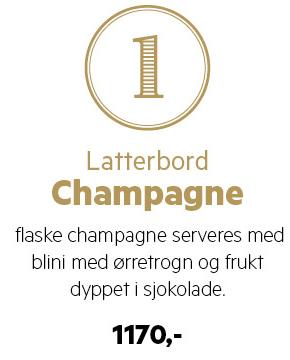 Latterbord Champagne